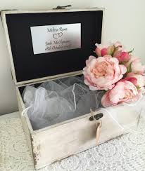 wishing box wedding wooden wood shabby vintage personalised wedding