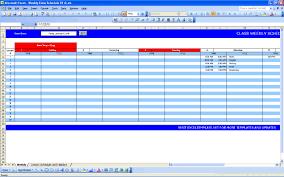 weekly schedule template in excel