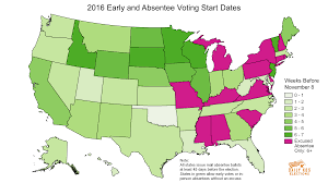 Mail Map When Does Early Voting Start And How Many Votes Are Cast That Way