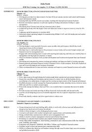 director of finance resume senior director finance resume samples velvet jobs