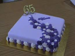 65 wedding anniversary purple 65th wedding anniversary cake cakecentral