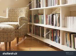 home library arm chair clean modern stock photo 155562782
