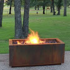 Firepit Uk Corten Steel Bowl Table Pit Uk Rectangular Photo Ideas