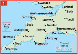England On Map Map Of South West England And Wales You Can See A Map Of Many
