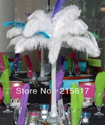 white ostrich feather centerpieces express free shipping 100pcs lot 26 28
