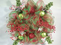 colors some christmas wreathes bright color mesh ribbons dma