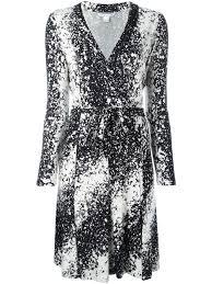 diane von furstenberg abstract print wrap dress stella black women