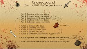 Challenge Minecraft Survival Map Underground 1 1 You Ll Never See The Sunlight