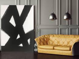 abstract black u0026 white slash no 2 abstract art painting black