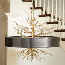 Twig Light Fixtures Global Views Twig Pendant Brass On Brass W Bronze Shade