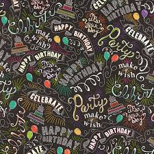 chalkboard wrapping paper colorful block lettering happy birthday wrapping paper roll