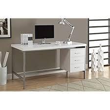 Monarch Computer Desk Monarch Specialties Cappuccino Hollow Silver