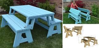 convertible picnic table and bench home design garden