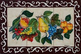italian tile mural store backsplash landscapes murals bunch grapes fruit pear backsplash tiles
