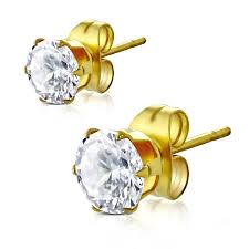 hypoallergenic earrings clear gold stud hypoallergenic earrings uk solace jewellery ltd