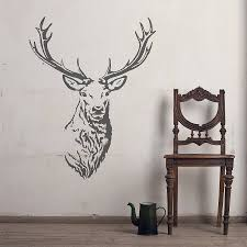 stag head vinyl wall sticker stag head vinyl wall stickers and