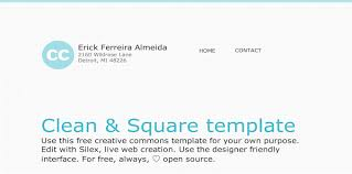silex templates official repository creative commons templates