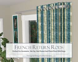 Return Rod Curtains For Grommet Draperies Return Rods Work Well With
