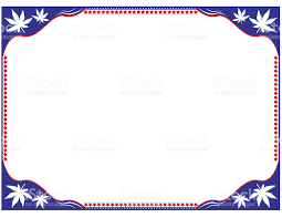 document frame marijuana white and blue document frame suitable for printing