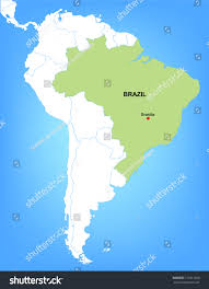 Brazil On South America Map by Vector Map South America Highlighting Country Stock Vector
