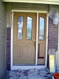 Refinish Exterior Door Refinished Fiberglass Front Door