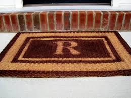 Half Circle Rugs Tips Monogram Doormat Customized Door Mats Monogrammed Floor Mats