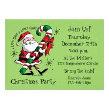 retro christmas invitations retro invites