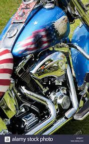Harley Davidson Flags Harley Davidson Motorcycle With Custom American Flag Paint Work