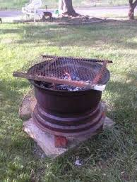 recycled tire rim bbq and fire pit ideas2live4