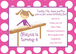 gymnastics birthday invitations marialonghi com