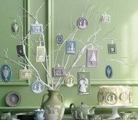 silver and white tree decorations golden gold woodland