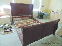 sleigh bed makeover and master bedroom progress thrifty rebel