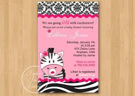 pink zebra print baby shower invitations baby shower diy