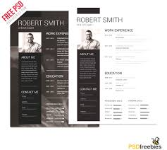 creative professional resume templates browse free modern resume template psd creative professional resume
