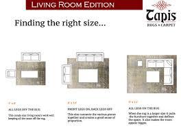 Livingroom Carpet Normal Living Room Rug Size Interior Design
