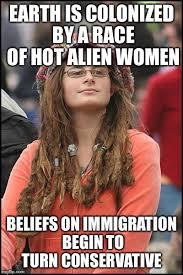 Hot Women Memes - college liberal meme imgflip