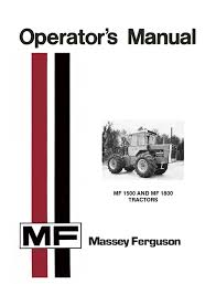 massey ferguson mf 1500 and mf 1800 tractors operator u0027s manual