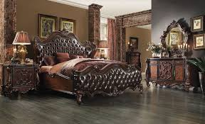 best deals on bedroom furniture sets acme versailles 4 piece upholstered bedroom set in d brown pu
