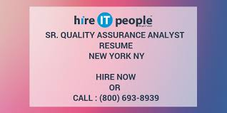 Sample Resume For Quality Assurance by Quality Assurance Analyst Resumes Contegri Com