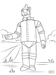 wizard of oz tin man coloring page free printable coloring pages