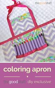 coloring apron easy kids craft thegoodstuff