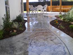 Pictures Of Stamped Concrete Walkways by After Stamped Concrete Patio And Walkway Peak Landscape Design