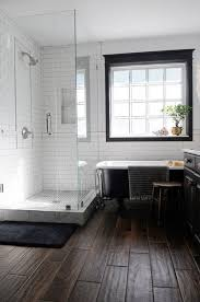 masculine bathroom renovation ideas with black accent on wooden
