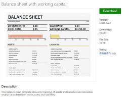 balance sheet template from ms excel pinterest balance sheet
