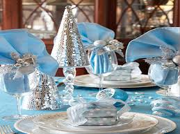 blue and silver table decoration blue silver christmas table