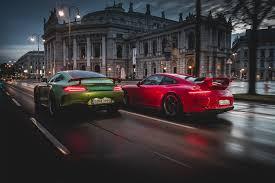 nissan gtr vs porsche 911 2018 porsche 911 gt3 vs 2018 mercedes amg gt r love at first
