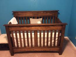 Convertible Baby Crib Plans by Arts And Crafts Inspired Baby U0027s Crib 3 In 1 Design Finewoodworking