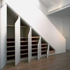 interior minimalist under stairs storage solution coolest steel