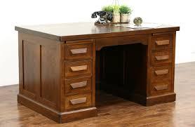 desk with file drawer sold oak antique 1900 library or office desk file drawer pull
