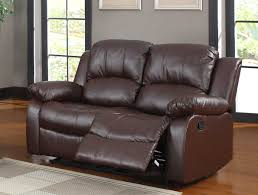 Brown Bonded Leather Sofa Homelegance Cranley Double Reclining Love Seat Brown Bonded